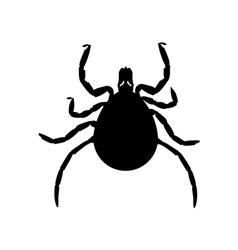 Mite black silhouette vector image