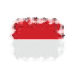 Monaco flag symbol halftone vector image