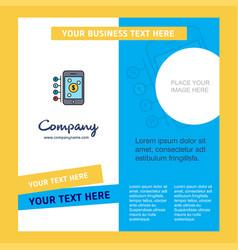 Money through smartphone company brochure vector