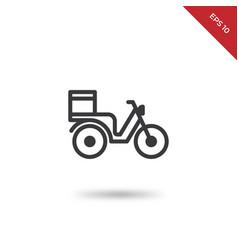 motorbike delivery icon vector image