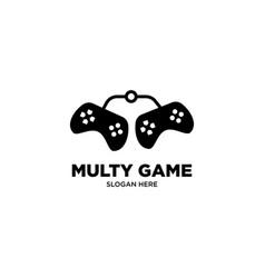 Multi game logo design vector