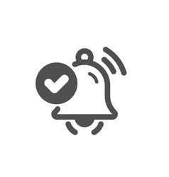 Notification received icon selected reminder sign vector