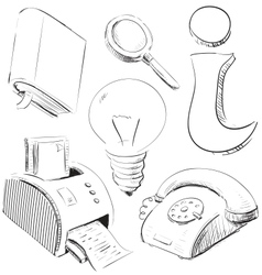 Office stuff icons set vector image
