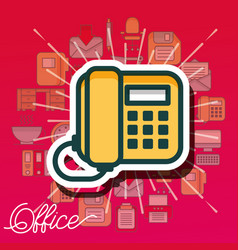 Office supplies and people vector
