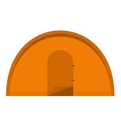 orange tourist tent icon isolated vector image