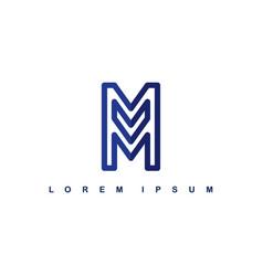 Overlap line art template logo logotype alphabet vector