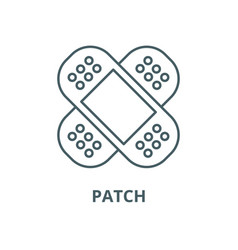patch line icon linear concept outline vector image
