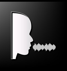 People speaking or singing sign gray 3d vector