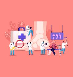Podiatry concept doctor podiatrist character vector