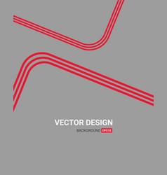 Red line art color creative letterhead design vector