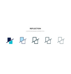 Reflection icon in different style two colored vector