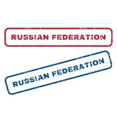 Russian Federation Rubber Stamps vector
