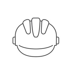 safety helmet isolated icon vector image