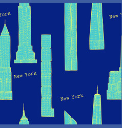 Seamless pattern with skyscrapers vector