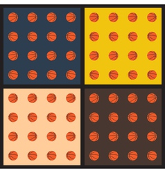 Seamless patterns with basketball balls vector image