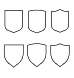 Security assurance gray outline icons set vector