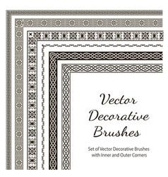 set decorative brushes vector image