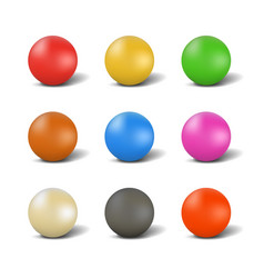 Set of balls for playing snooker vector