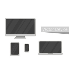 Set of electronic devices icon Flat design devices vector