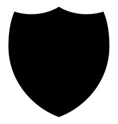 Shield flat black color icon vector