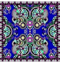 silk neck scarf or kerchief square pattern design vector image