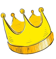 Simple crown icon vector image