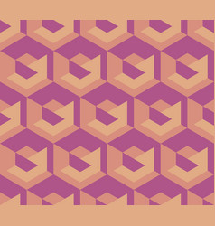 simple geometry seamless pattern vector image