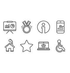 star honor and smartphone statistics icons vector image