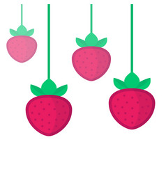 Strawberries on white vector