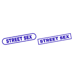 Street sex blue rectangle watermark with corroded vector