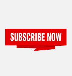 subscribe now vector image