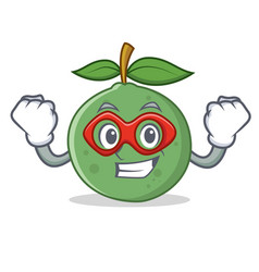 Super hero guava character cartoon style vector