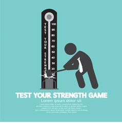 Test Your Strength Game Symbol vector image