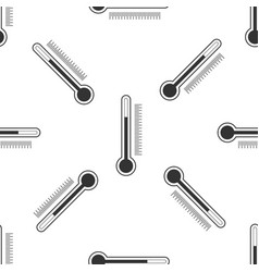 thermometer icon seamless pattern vector image