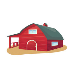 Traditional american red wooden barn farm vector
