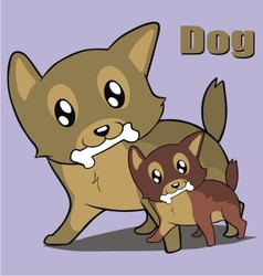 two cute dog vector image