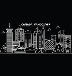 Vancouver city silhouette skyline canada vector