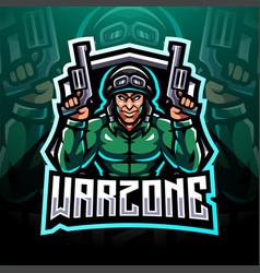 Warzone esport mascot logo design vector