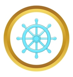 Wheel of Dharma icon vector