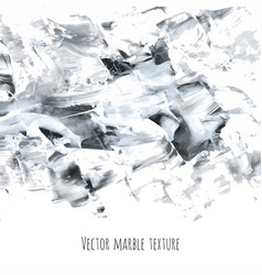white gray black marble watercolor texture vector image