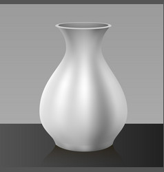 White vase isolated on background vector