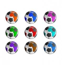world soccer balls vector image