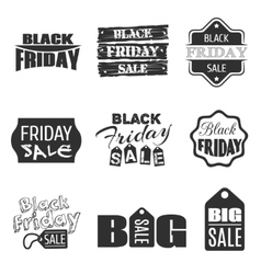 Black friday typographic design sale label vector image vector image