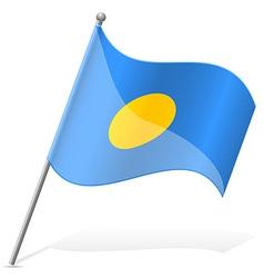 Flag of palauan vector