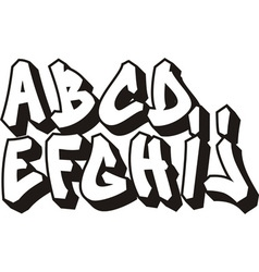 graffiti font part 1 vector image vector image