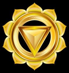 hindu chakra manipura medallion vector image