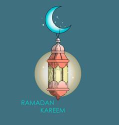 ramada kareem card vector image