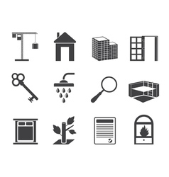 Simple Real Estate icons vector image vector image