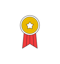 simple star badge outline icon vector image