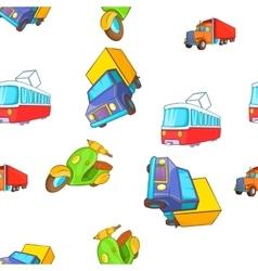 Transport pattern cartoon style vector image